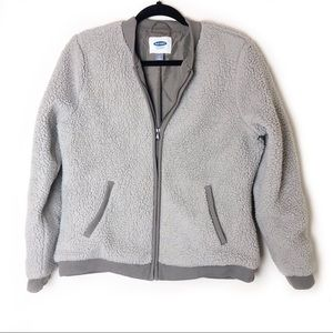 Old Navy Grey Sharpe Bomber Jacket